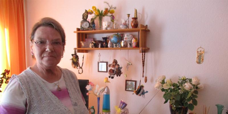 Erika Selent in ihrem Einzelzimmer
